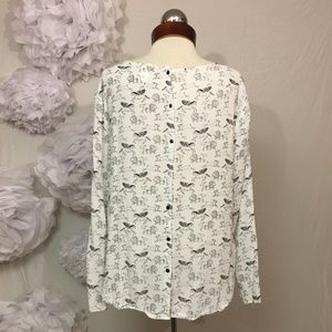 H&M Tops - AMAZING unicorn lion rabbit viscose button back to